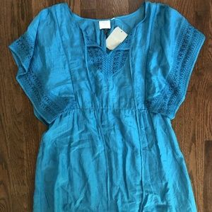 NWT Anthropologie Blue Stone Harbor Dress Sz 12